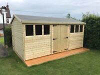 12x8 workshop shed