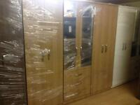 Oak effect wardrobe