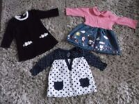 3 EARLY DAYS DRESSES 6-9 MONTHS