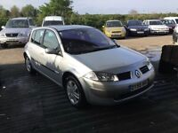 55 REG RENAULT MEGANE 1500 cdi diesel very low mileage full service history £30 a year road tax vgc