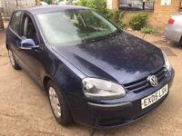 2005 VOLKSWAGEN GOLF S SDI 5 DOOR.BRILLIANT DRIVE.SERVICE HISTORY.E/W.CD/RADIO.MOT 09/11/17.