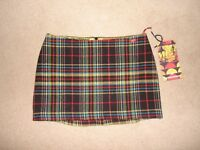 new with tags Miss Sixty lined skirt size 12 RRP £45 (30/31inch waist) - mini skirt sits on hips