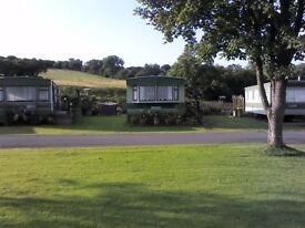 Static Caravan for Sale near Newtown in Mid Wales. Holiday use, friendly site with fishing lakes.