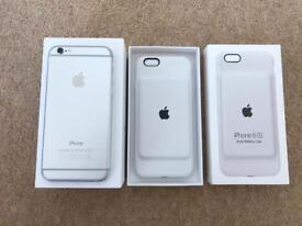 iPhone 6 64GB and Smart battery case