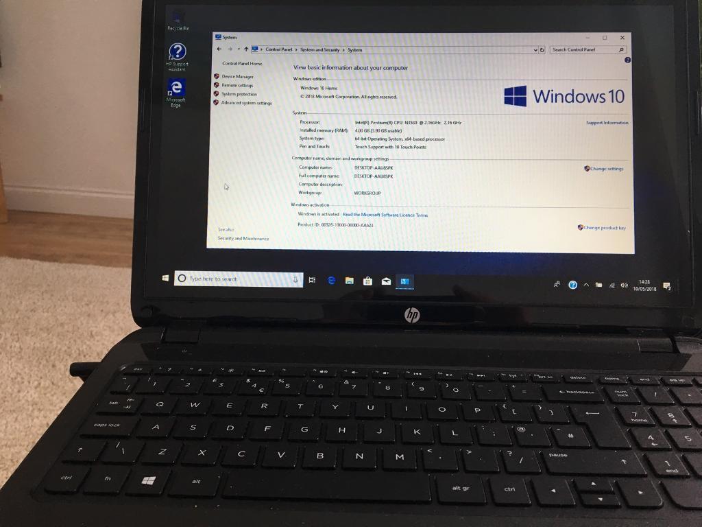 HP Touch Screen Laptop 1TB Hardrive Windows 10   in Plymouth, Devon    Gumtree