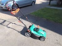 qualcast electric rotary lawn mower very little use