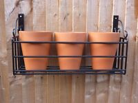 Ornamental Garden Plant Pot Holder & Pots