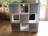 White 9 cube storage unit