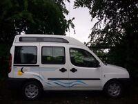 Fiat Doblo 2 Berth Motor Caravan.New Conversion. Seats 4 For Everyday Use