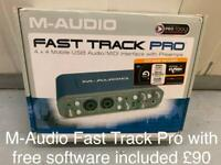 M-Audio Fast Track Pro with free software included. Brand new.