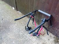 Bike rack takes 2 bikes universal fits most hatchback cars comes with straps