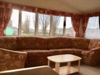 Pre owned Static Caravan Holiday Home For Sale Skegness North Shore SITE FEES AND DECK INCLUDING