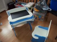 CHILDS DESK AND CHAIR SET