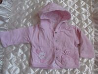 beautiful baby girl pink newborn coat/hoodie