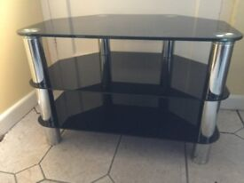 3 TIER GLASS TV / HOME ENTERTAINMENT STAND