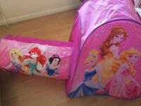 Disney Princess pop up tent and tunnel