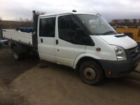 ford transit tipper breaking, 2010, good 2.4td engine, cat b shell not for sale! all parts available