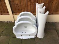 Wash hand basins x 3