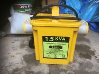 Brand new & unused 1.5 Kva transformer 2x16a outlets