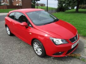 2015 SEAT IBIZA 3 DOOR TOCO 1.4 PETROL IN RED
