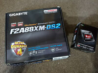 Gigabyte F2A88XM-DS2 Socket FM2+ Motherboard and AMD Processor