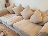 Incredibly Comfortable Beige/cream 4 Seater sofa