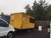Site office secure cabin trailer catering trailer