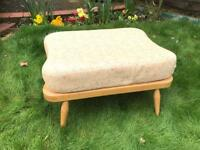 ERCOL ORIGINAL VINTAGE RETRO FOOT STOOL WITH ORIGINAL CUSHIONS FANTASTIC CONDITION