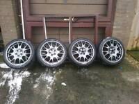 Genuine golf gti edition 30 bbs alloy wheels 18 5x112