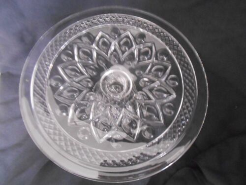 Vintage Imperial Cape Cod Footed Cake PlateClear Glass - Ohio-EX!