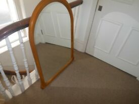 Huge very pretty shape arched mirror perfect glass tatty surround nice flower corners upcycle paint