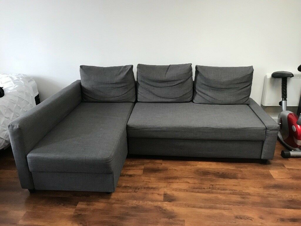 ikea friheten sofa sofa bed with storage grey in shoreham by sea west sussex gumtree. Black Bedroom Furniture Sets. Home Design Ideas