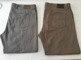 "M&S lightweight luxury fabric jeans 42"" waist 30"" inside leg 2 pairs"
