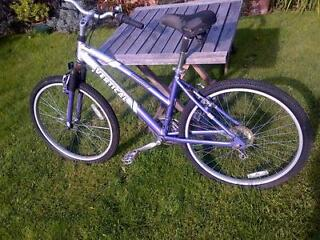 18'' 18 gear ladies or girls mountain bicycle in very good condition