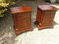 mahogany bedside cabinets
