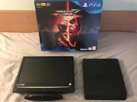PlayStation 4 500gb slim pad with 17inch HD TV