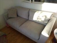 Pale grey sofa