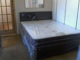Slumberdream Double Comfynight 2 Drawer Divan Bed (NEW + W r a p p e d )