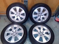 """17"""" Audi A3 alloys and tyres."""