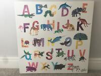 Child's ABC canvas
