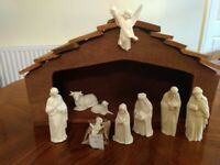 Ceramic nativity sets . White but could paint to make your own personalised set. From £2