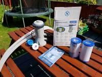Intex pool filter pump + cartridges