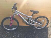 Kids geared full suspension mountain bike
