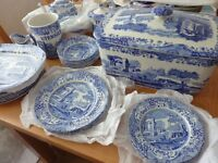 SPODE BLUE AND WHITE ITALIAN WARE, various pieces from £3