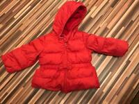 Red girl jacket GAP 18-24 months