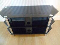 3 Tier Black Television Stand FREE TO COLLECTOR