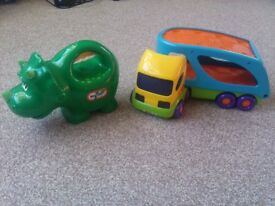 Little Tikes dinosaur torch and ELC lorry