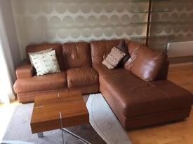 Leather DFS corner sofa 8yrs old