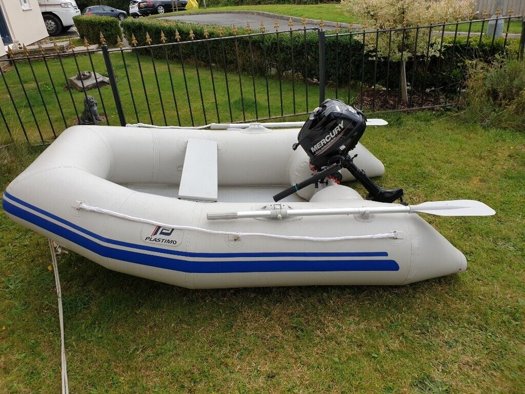Inflatable 2 4 Dinghy and 2 5 hp four stroke Mercury Outboard all 2017 | in  Launceston, Cornwall | Gumtree