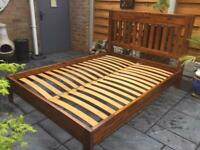 Acacia Hardwood - Double Bed Frame - Brand New